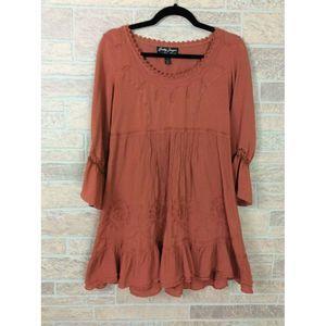 Gretty Zueger Boho Peasant Dress Size Large